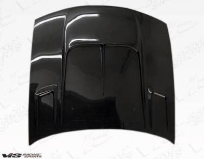 VIS Racing - Carbon Fiber Hood Drift 2 Style for Nissan 240SX 2DR 97-98 - Image 1