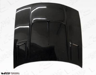 VIS Racing - Carbon Fiber Hood Drift 2 Style for Nissan 240SX 2DR 97-98 - Image 2