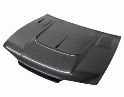 VIS Racing - Carbon Fiber Hood Drift 2 Style for Nissan 240SX 2DR 95-96 - Image 2