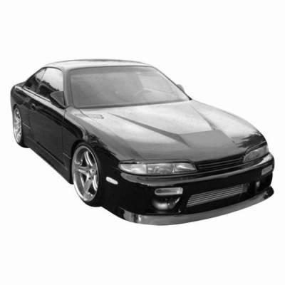 VIS Racing - Carbon Fiber Hood Invader Style for Nissan 240SX 2DR 95-96 - Image 2