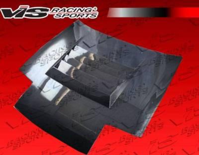VIS Racing - Carbon Fiber Hood Drift Style for Nissan 240SX 2DR & Hatchback 89-94 - Image 2