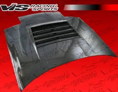VIS Racing - Carbon Fiber Hood Drift Style for Nissan 240SX 2DR & Hatchback 89-94 - Image 3