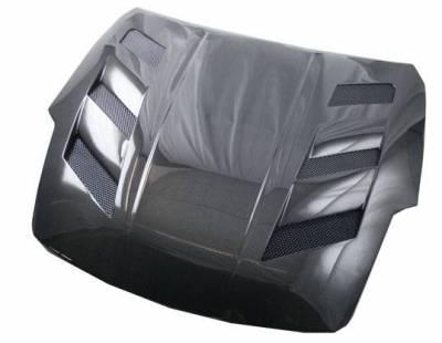 VIS Racing - Carbon Fiber Hood AMS Style for Nissan 350Z 2DR 07-08 - Image 1