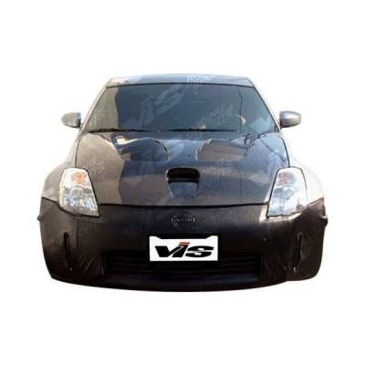 VIS Racing - Carbon Fiber Hood Fuzion Style for Nissan 350Z 2DR 03-06 - Image 2