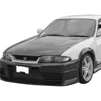 VIS Racing - Carbon Fiber Hood JS Style for Nissan SKYLINE R33 (GTR) 2DR 95-98 - Image 2