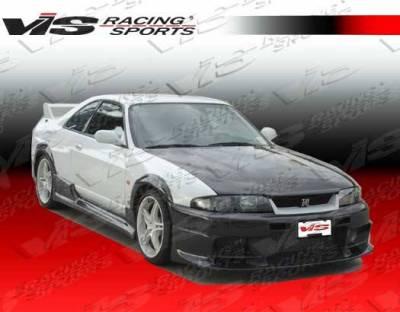 VIS Racing - Carbon Fiber Hood OEM Style for Nissan SKYLINE R33 (GTR) 2DR 95-98 - Image 2