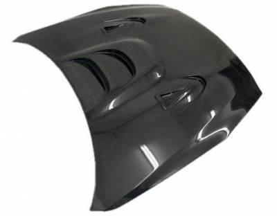 VIS Racing - Carbon Fiber Hood MS Style for Nissan SKYLINE R35 (GTR) 2DR 2009-2020 - Image 2