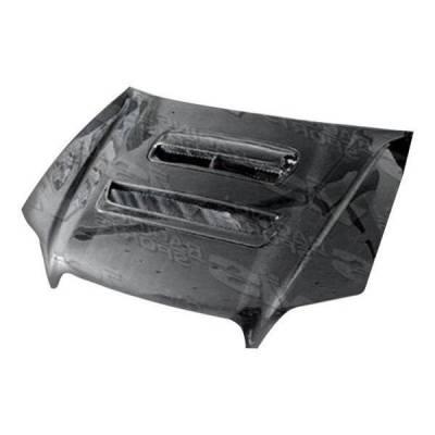 VIS Racing - Carbon Fiber Hood V Line Style for Subaru Legacy 4DR 95-99 - Image 2
