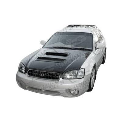 VIS Racing - Carbon Fiber Hood V Line Style for Subaru Legacy 4DR 95-99 - Image 3