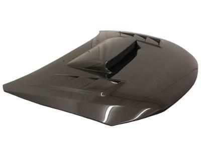 VIS Racing - Carbon Fiber Hood Tracer Style for Subaru WRX Hatchback & 4DR 08-14 - Image 1