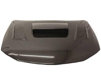 VIS Racing - Carbon Fiber Hood Tracer Style for Subaru WRX Hatchback & 4DR 08-14 - Image 2