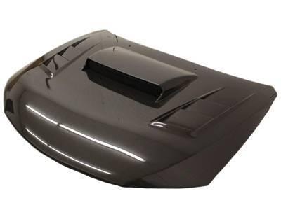 VIS Racing - Carbon Fiber Hood Tracer Style for Subaru WRX Hatchback & 4DR 08-14 - Image 3
