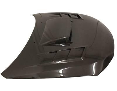 VIS Racing - Carbon Fiber Hood Tracer Style for Subaru WRX Hatchback & 4DR 08-14 - Image 4
