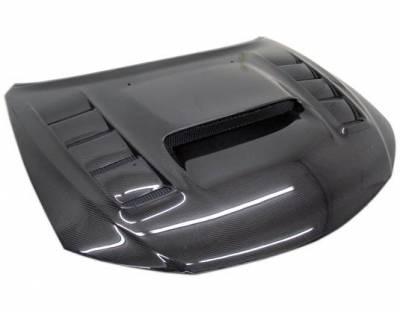 VIS Racing - Carbon Fiber Hood VRS Style for Subaru WRX Hatchback & 4DR 08-14 - Image 2