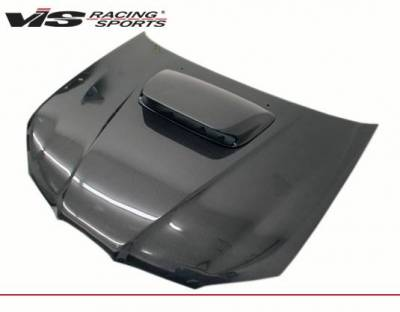 VIS Racing - Carbon Fiber Hood STI Style for Subaru WRX 4DR 06-07 - Image 2