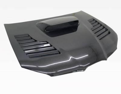 VIS Racing - Carbon Fiber Hood Tracer Style for Subaru WRX 4DR 06-07 - Image 1