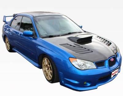 VIS Racing - Carbon Fiber Hood Tracer Style for Subaru WRX 4DR 06-07 - Image 2