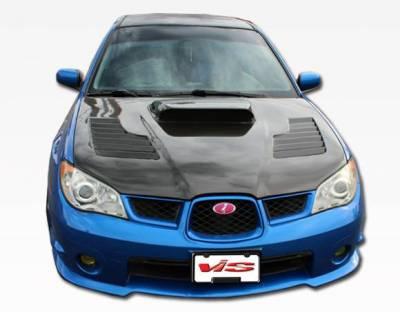 VIS Racing - Carbon Fiber Hood Tracer Style for Subaru WRX 4DR 06-07 - Image 3