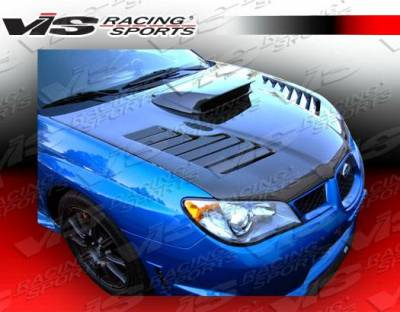 VIS Racing - Carbon Fiber Hood Tracer Style for Subaru WRX 4DR 06-07 - Image 4