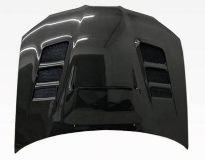 VIS Racing - Carbon Fiber Hood VRS Style for Subaru WRX 4DR 06-07 - Image 4