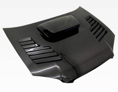 VIS Racing - Carbon Fiber Hood Tracer Style for Subaru WRX 4DR 04-05 - Image 2