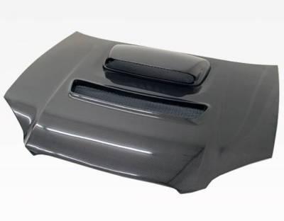 VIS Racing - Carbon Fiber Hood V Line Style for Subaru WRX 4DR 04-05 - Image 2