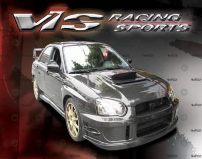 VIS Racing - Carbon Fiber Hood V Line Style for Subaru WRX 4DR 04-05 - Image 3