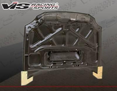 VIS Racing - Carbon Fiber Hood STI Style for Subaru WRX 4DR 02-03 - Image 3