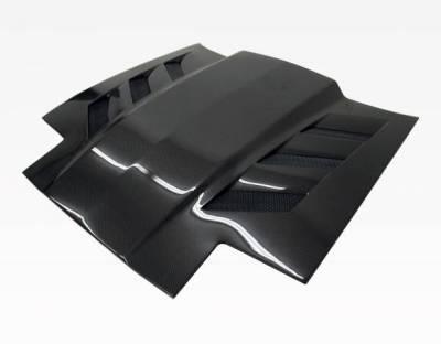 VIS Racing - Carbon Fiber Hood AMS Style for Toyota Supra 2DR 86-92 - Image 2