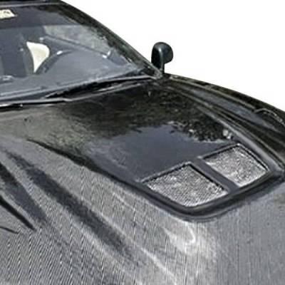 VIS Racing - Carbon Fiber Hood EVO Style for Toyota Yaris  Hatchback 2007-2013 - Image 2