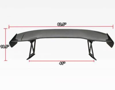 VIS Racing - Carbon Fiber Spoiler VTX Style for Honda S2000 2DR 00-09 - Image 4