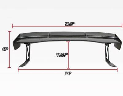 VIS Racing - Carbon Fiber Spoiler VTX Style for Mitsubishi Evo8 4DR 03-07 - Image 6