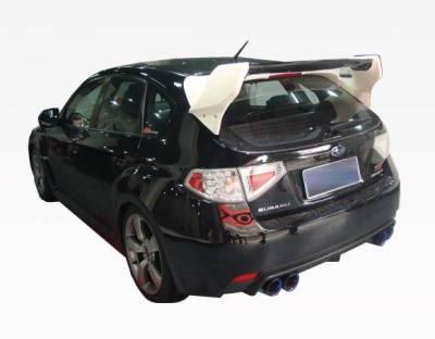 VIS Racing - Carbon Fiber Spoiler VRS Style for Subaru WRX Hatchback 08-14 - Image 3