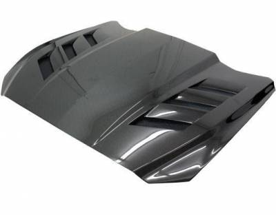 VIS Racing - Carbon Fiber Hood AMS Style for Ford MUSTANG 2DR 15-17 - Image 1