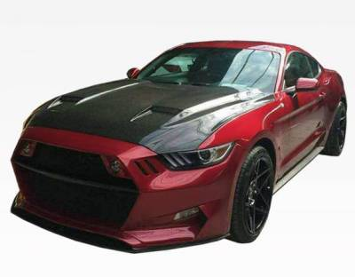 VIS Racing - Carbon Fiber Hood MK7 Style for Ford MUSTANG 2DR 15-17 - Image 1
