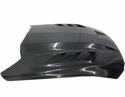 VIS Racing - Carbon Fiber Hood Terminator Style for Ford MUSTANG 2DR 15-17 - Image 3