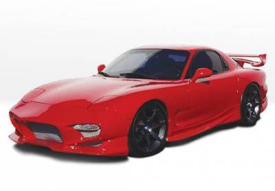Wings West - 1993-1997 Mazda Rx-7 Aggressor 5Pc Complete Kit Fiberglass - Image 3