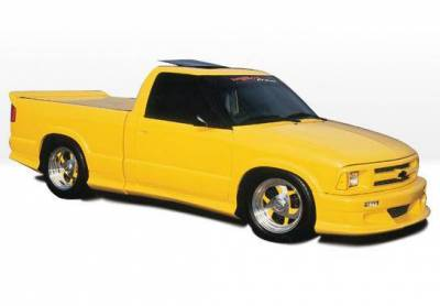 Wings West - 1994-1997 Chevrolet S 10 Standard Cab Custom Style Full Kit W/Roll Pan - Image 2