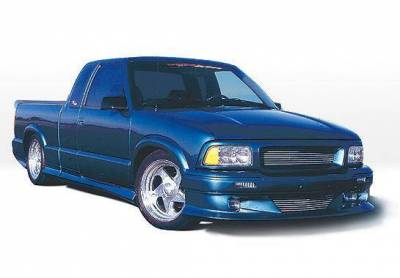 Wings West - 1994-1997 Chevrolet S 10 Extended Cab Custom Style Full Kit W/Roll Pan - Image 2