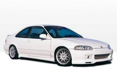 Wings West - 1992-1995 Honda Civic 2Dr Racing Series 4Pc Complete Kit - Image 2