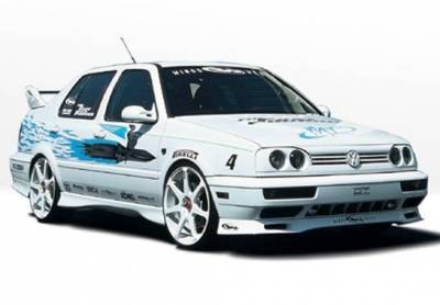 Wings West - 1993-1998 Volkswagen Jetta Custom Style 4Pc Complete Kit - Image 2