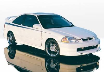Wings West - 1996-1998 Honda Civic 4Dr Racing Series 4Pc Kit - Image 1