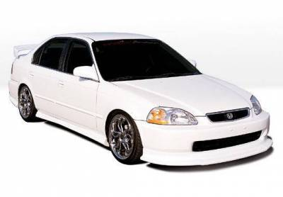 Wings West - 1996-1998 Honda Civic 4Dr Racing Series 4Pc Kit W/Touring Style Front Lip Polyurethane - Image 2