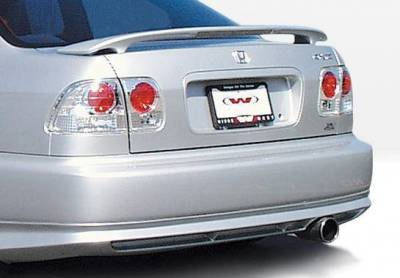 Wings West - 1996-1998 Honda Civic 4Dr Racing Series 4Pc Kit W/Touring Style Front Lip Polyurethane - Image 3