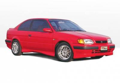 Wings West - 1998-1999 Toyota Tercel 2 Door Cars Manufactured From 1Dec 97 To 1999 M-Typ 4Pc Complete Kit Without Lip Spoiler - Image 4