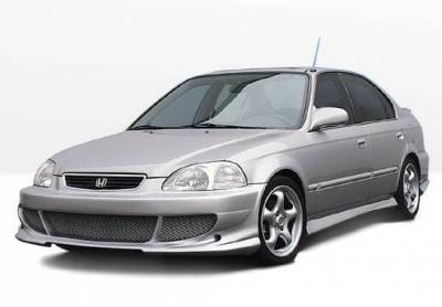 Wings West - 1996-1998 Honda Civic 4Dr Bigmouth 4Pc Complete Kit - Image 2