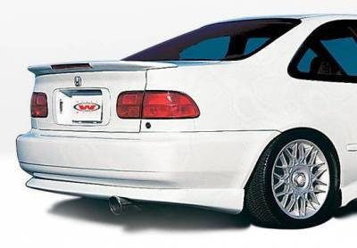 Wings West - 1992-1995 Honda Civic 2Dr Bigmouth 4Pc Complete Kit W/Racing Series Sides & Rear - Image 3