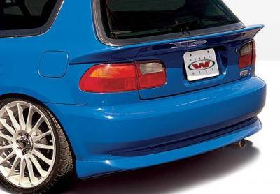 Wings West - 1992-1995 Honda Civic Hb Bigmouth 4Pc Complete Kit W/Racing Series Sides & Rear - Image 3