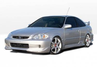 Wings West - 1999-2000 Honda Civic 2Dr W-Typ 4Pc Complete Kit - Image 2