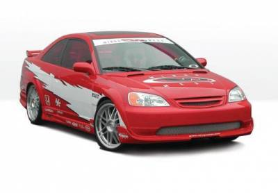 Wings West - 2001-2003 Honda Civic 2 Door G5 Series 4Pc Kit W/ Extreme 7Pc Fender Flare - Image 2